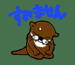 Chilling Otter. sticker #177379