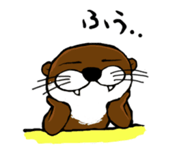 Chilling Otter. sticker #177381