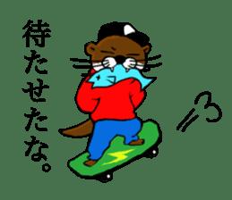 Chilling Otter. sticker #177382