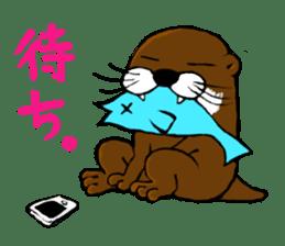 Chilling Otter. sticker #177384