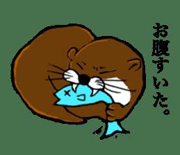 Chilling Otter. sticker #177390