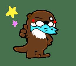 Chilling Otter. sticker #177395