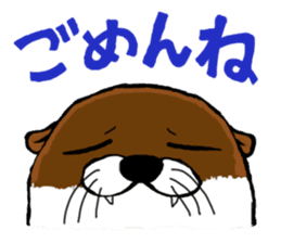 Chilling Otter. sticker #177396