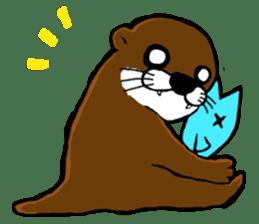 Chilling Otter. sticker #177398