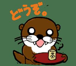 Chilling Otter. sticker #177400