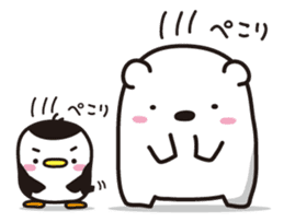AAUGH! Polar bear & Penguin sticker #178001