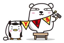 AAUGH! Polar bear & Penguin sticker #178008
