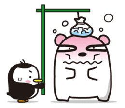 AAUGH! Polar bear & Penguin sticker #178014