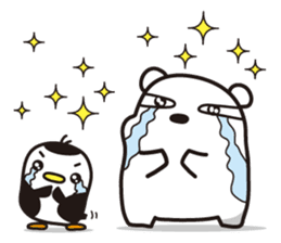AAUGH! Polar bear & Penguin sticker #178015
