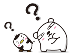 AAUGH! Polar bear & Penguin sticker #178016