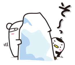 AAUGH! Polar bear & Penguin sticker #178017