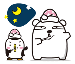AAUGH! Polar bear & Penguin sticker #178019