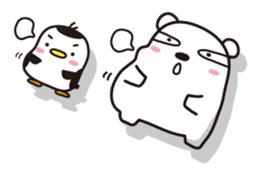 AAUGH! Polar bear & Penguin sticker #178025
