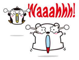 AAUGH! Polar bear & Penguin sticker #178026