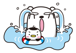 AAUGH! Polar bear & Penguin sticker #178030