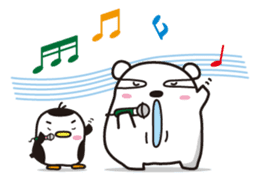 AAUGH! Polar bear & Penguin sticker #178031