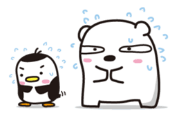 AAUGH! Polar bear & Penguin sticker #178032