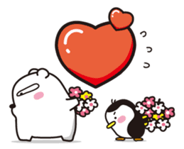 AAUGH! Polar bear & Penguin sticker #178033