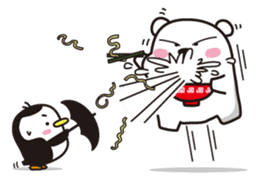 AAUGH! Polar bear & Penguin sticker #178036