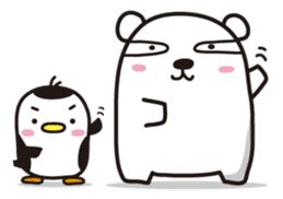 AAUGH! Polar bear & Penguin sticker #178038