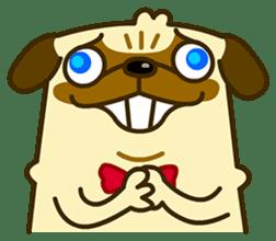 Pug Boo dog's Life sticker #178081