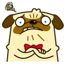 Pug Boo dog's Life sticker #178086