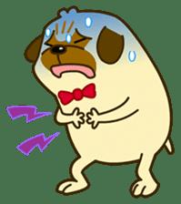 Pug Boo dog's Life sticker #178104
