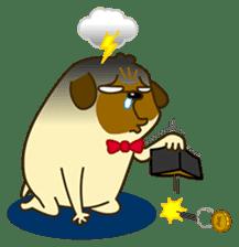 Pug Boo dog's Life sticker #178107