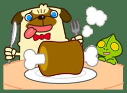 Pug Boo dog's Life sticker #178118