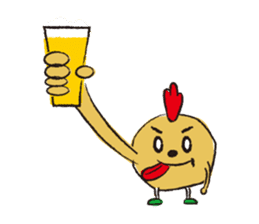 Fried chicken boy sticker #179205