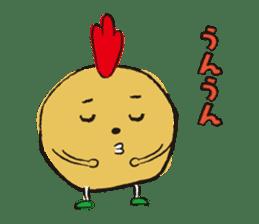 Fried chicken boy sticker #179229