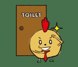 Fried chicken boy sticker #179239