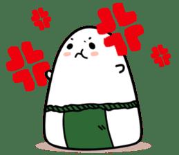 Sumo wrestler by Rice balls sticker #179694