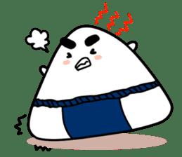 Sumo wrestler by Rice balls sticker #179695