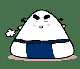 Sumo wrestler by Rice balls sticker #179713