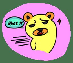 Crazy Bear sticker #180809