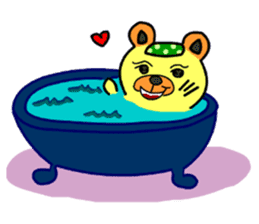 Crazy Bear sticker #180810