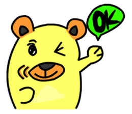 Crazy Bear sticker #180828