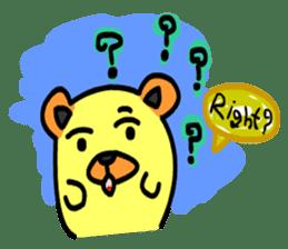 Crazy Bear sticker #180838