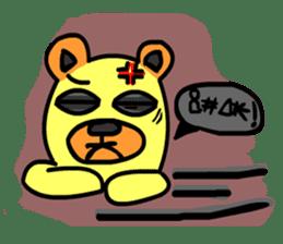 Crazy Bear sticker #180845