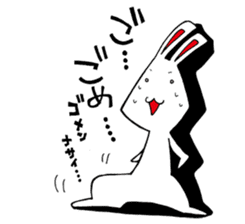 White rabbit news agency sticker #180955