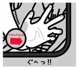Funny Jokes! Designer's Hands.(JP) sticker #181128