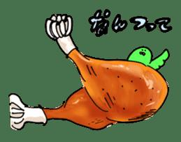 Chicken thigh man sticker #181161