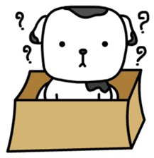 The Dog in the Box (English version) sticker #181891