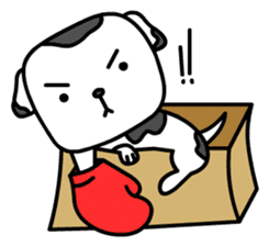 The Dog in the Box (English version) sticker #181894