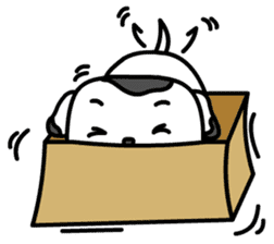 The Dog in the Box (English version) sticker #181908