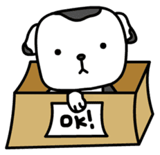 The Dog in the Box (English version) sticker #181916