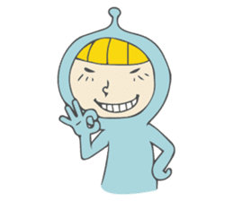 Spaceman & Denpa girl sticker #181978