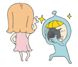Spaceman & Denpa girl sticker #181980