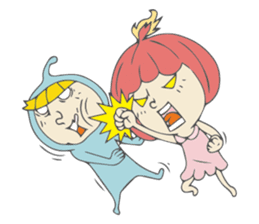 Spaceman & Denpa girl sticker #181999